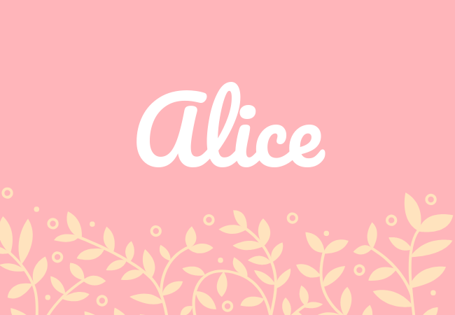 Alice most popular baby girl names