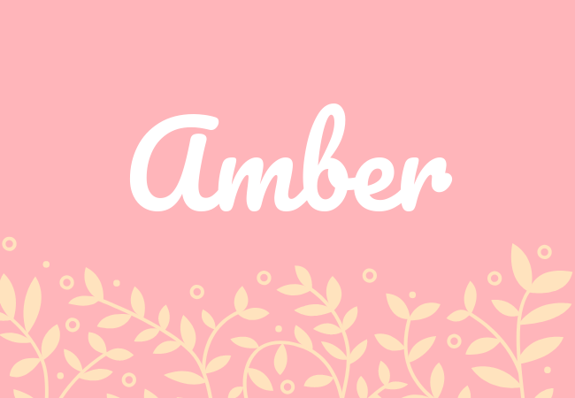 Most popular baby girl names Amber
