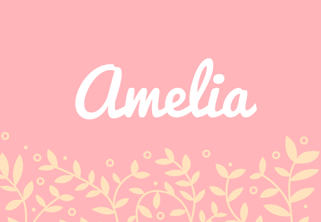 Amelia most popular baby girl names