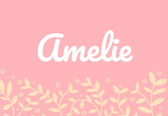 Most popular baby girl names Amelie