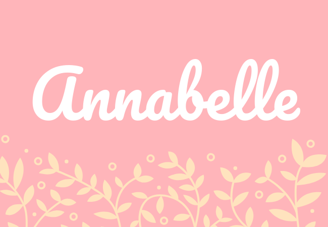 Most popular baby girl names Annabelle