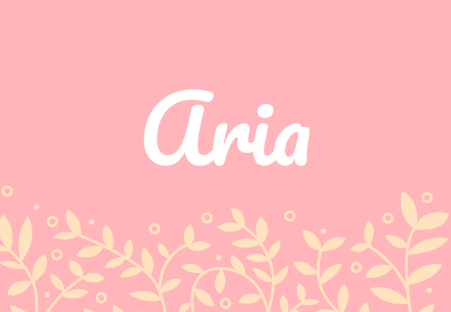 Most popular baby girl names aria