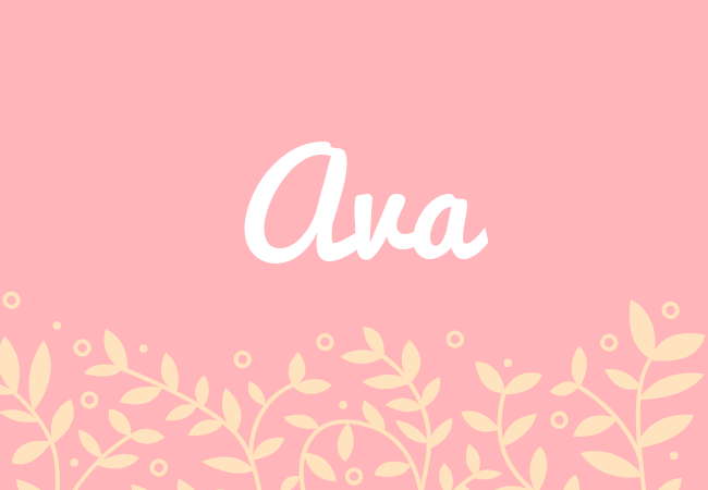 Ava most popular baby girl names