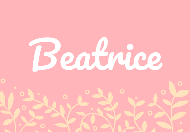 Most popular baby girl names Beatrice