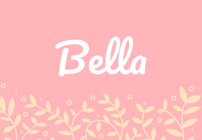 Most popular baby girl names Bella
