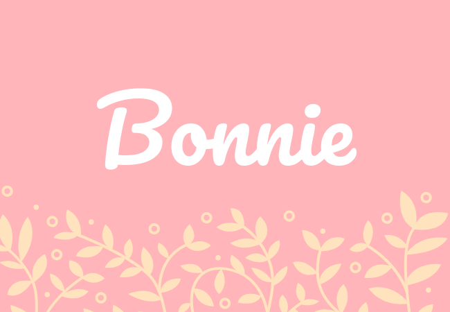 Most popular baby girl names Bonnie