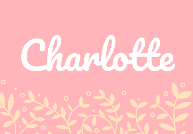 Charlotte most popular baby girl names