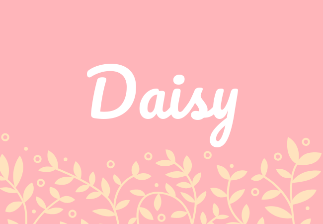 Daisy most popular baby girl names