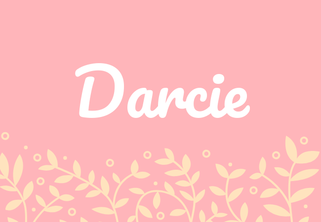 Most popular baby girl names Darcie