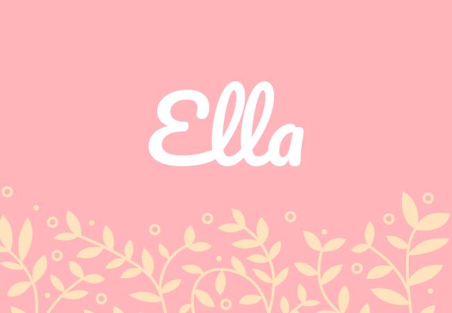 Ella most popular baby girl names