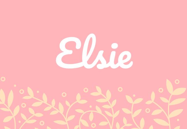 Elsie most popular baby girl names