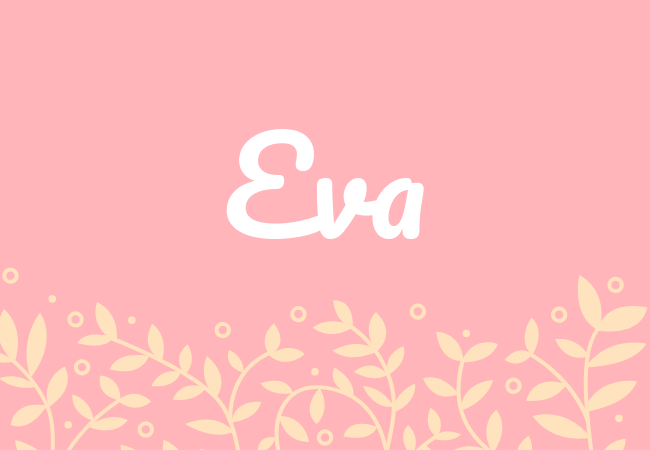 Most popular baby girl names Eva