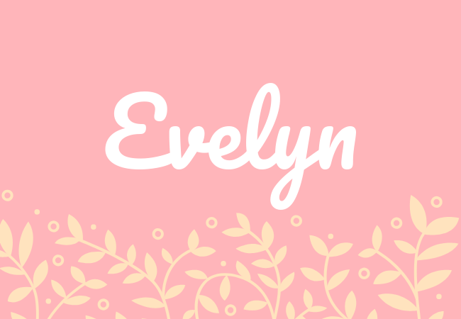 Evelyn most popular baby girl names