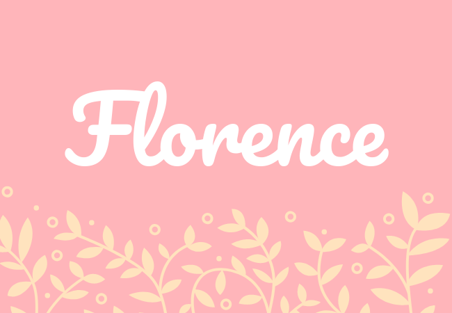 Florence most popular baby girl names