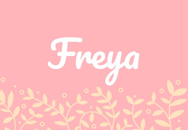 Freya most popular baby girl names