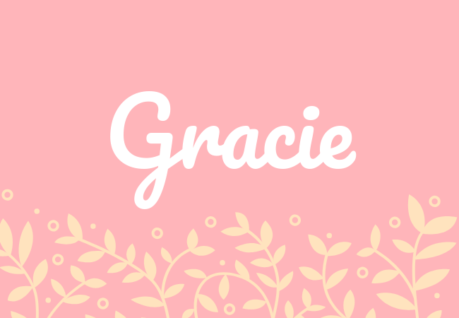 Most popular baby girl names Gracie