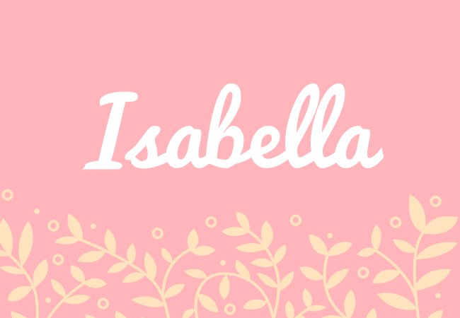 Isabelle most popular baby girl names