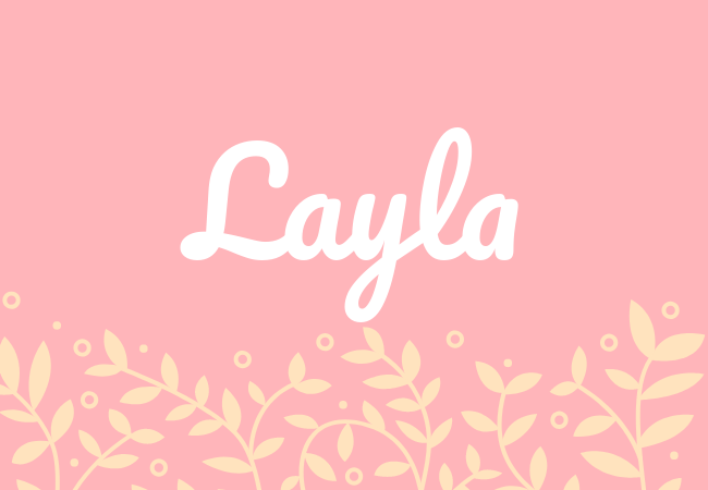Most popular baby girl names Layla