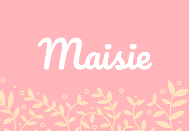 Most popular baby girl names Maisie