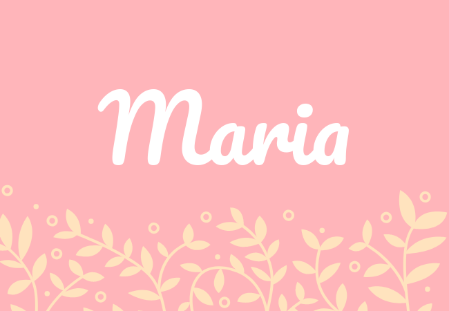 Most popular baby girl names Maria