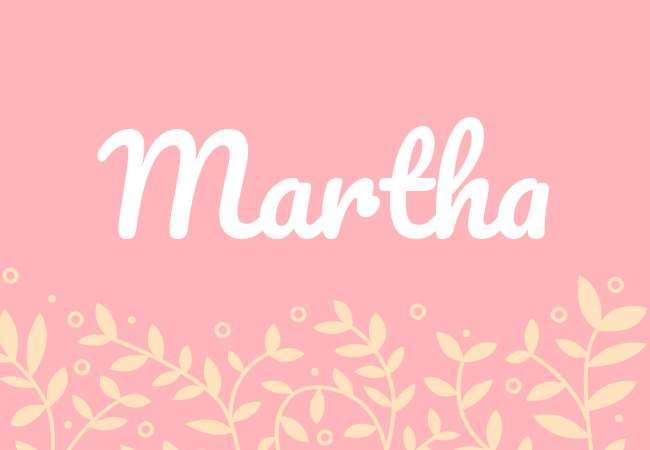 Most popular baby girl names Martha