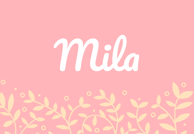 Most popular baby girl names Mila