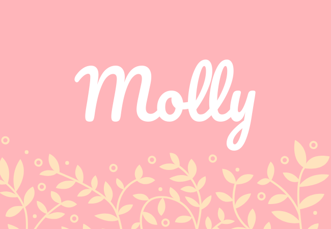 Most popular baby girl names Molly