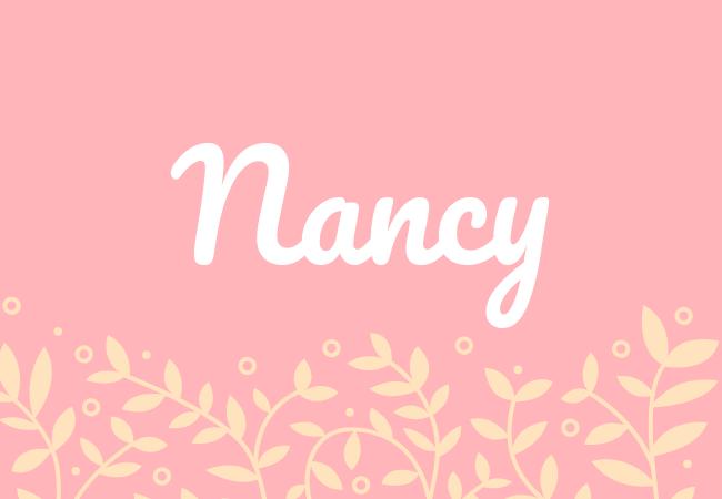 Most popular baby girl names Nancy