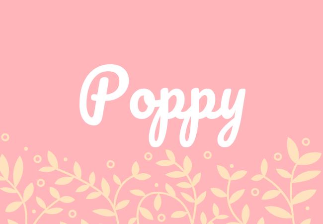 Poppy most popular baby girl names