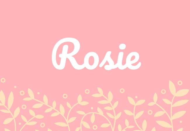 Most popular baby girl names Rosie