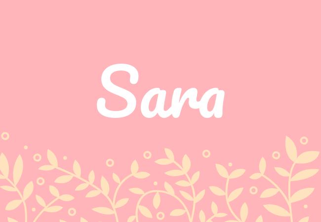 Most popular baby girl names Sara