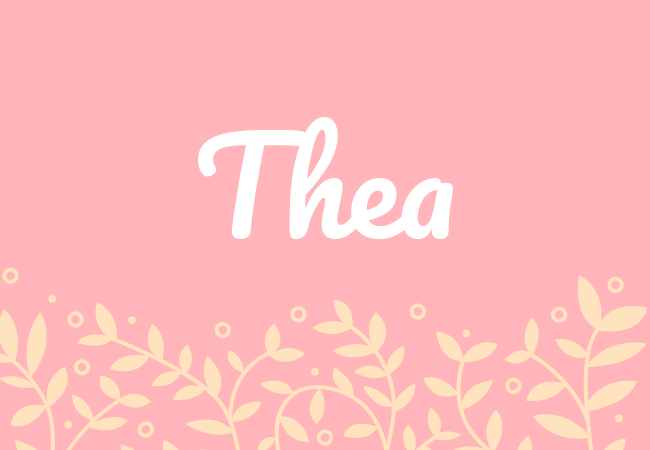 most popular baby girl names Thea