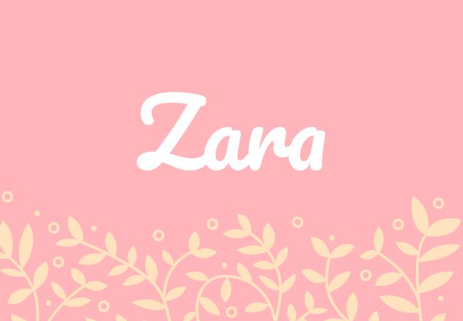 Most popular baby girl names Zara