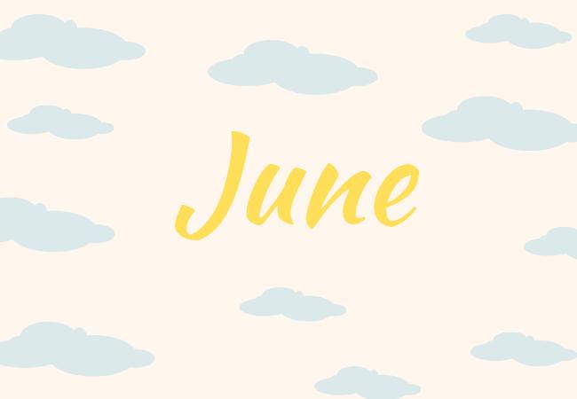 Summer baby names June