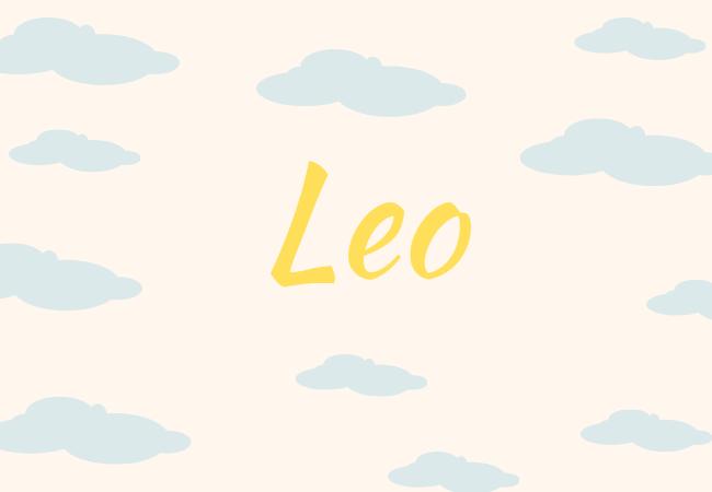 Summer baby names Leo