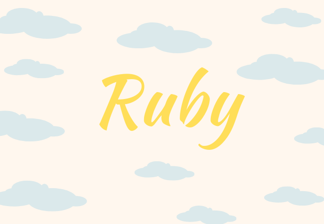 Summer baby names Ruby
