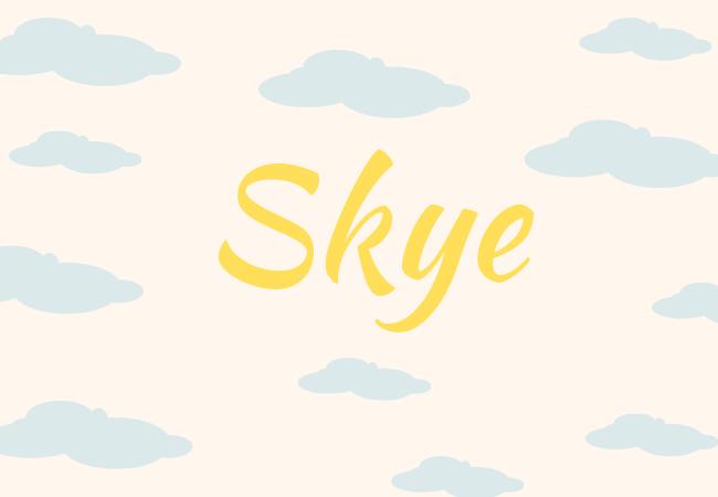 Summer baby names Skye