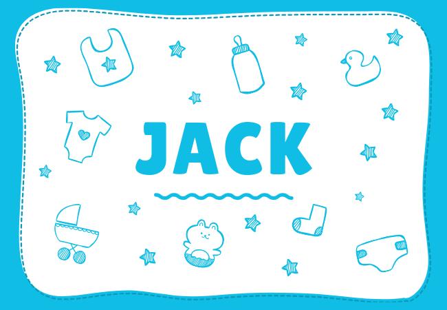 Jack most popular baby boy names