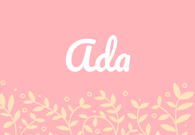Ada most popular baby girl names
