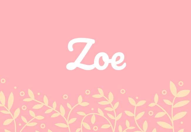 Zoe most popular baby girl names